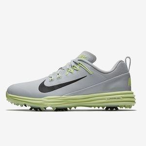 Nike Lunar Command 2 Golf Shoes Wolf Grey Volt